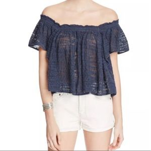 NWT Free People Off Shoulder Knit Top Sz S